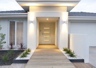 White Rendered Entrance